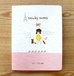 Sticky notes come in a beautifully designed booklet for easy acccess and organization Index contains 3 different size sticky notes With 8 cute designs Sticky notes x x Booklet x Korean Stationery, Kawaii Stationery, Cute Stationary, Cute Korean, Mail Art, Sticky Notes, Cute Designs, Booklet, Wraps