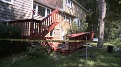 stony brook Authorities are investigating after an elevated wooden deck collapsed behind a Long Island home, injuring two people during a college party.