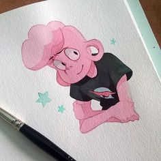 Pink Lars, sweet Lars. I Love Steven universe so much guys! ♥ #stevenuniverse #lars