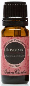 Rosemary essential oil.. like lavender oil, stimulates hair growth, among other therapeutic effects.   (Many rave reviews on Amazon!)