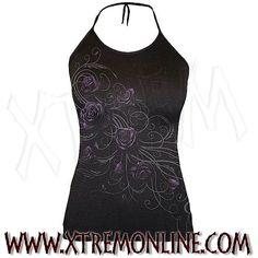 Camiseta atada al cuello Entwined. Echa un vistazo a nuestra colección de ropa gótica y heavy metal. Artículos en stock.