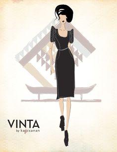 VINTA by Kapisanan featuring Cocktail Dress Terno Internship Fashion, Filipino, Philippines, Illustration, Ethnic, Cocktail, Graphic Design, My Style, Wedding