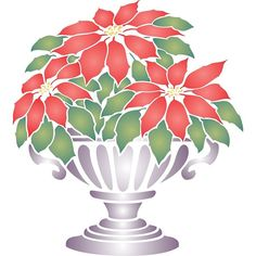 Stencils for Walls' Poinsettia Stencil. Stencilling is an effective and versatile way to customize any flat surfaces you may have. Our stencils are cheap and easy to use and also offer impeccable quality.