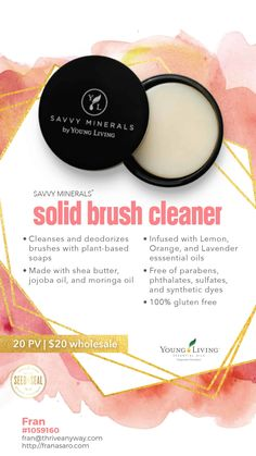 Young Living had an April 2019 Rally and launched several new products that you WON'T want to miss.. Take a look now while supplies last! Savvy Minersal Solid Brush Cleaner and so much more! WOW