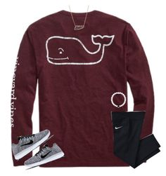 """Vineyard Vines!!"" by moseleym ❤ liked on Polyvore featuring NIKE and Kendra Scott"