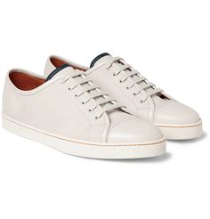 Buy John Lobb - Levah Cap-Toe Suede and Leather Sneakers - Men - Neutrals online. Find fashion products as well as the most beautiful furniture and home accessories online.: John Lobb - Levah Cap-Toe Suede and Leather Sneakers - Men - Neutrals. Slip On Sneakers, White Sneakers, Leather Sneakers, High Top Sneakers, Men Sneakers, Gq, Mens Designer Shoes, Men S Shoes, Swagg