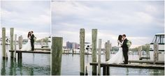 Bride and Groom, Dock on Detroit River, Detroit Yacht Club Wedding, Belle Isle, Metro Detroit Wedding, The Knot Top Pick, Sarah Kossuch Photography