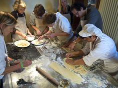 Team working in the pasta class Chianti Wine, Italian Pasta, Tortellini, Ravioli, Cooking Classes, How To Cook Pasta, Dining, Eat, Meal