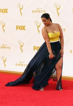Dascha Polanco attends the 67th Annual Primetime Emmy Awards at Microsoft Theater on September 20, 2015