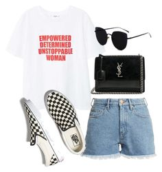 Untitled #5987 by lilaclynn on Polyvore featuring polyvore, fashion, style, MANGO, M.i.h Jeans, Vans, Yves Saint Laurent, clothing, mango, YSL, vans, saintlaurent and yvessaintlaurent