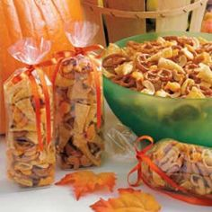 Ranch Snack Mix - this is the best stuff ever ! whenever i make a big batch and take it to work, it never lasts for very long. everyone loves it! Halloween treats for next year 2015 Ranch Snack Mix Recipe, Snack Mix Recipes, Yummy Snacks, Appetizer Recipes, Great Recipes, Healthy Snacks, Cooking Recipes, Yummy Food, Favorite Recipes