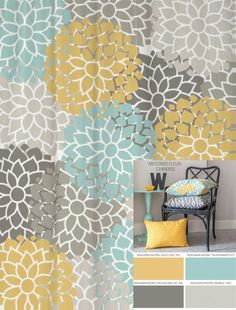 Shower+Curtain+in+Custom+Yellow+Blue+and+by+SwirledPeasDesigns,+$76.00