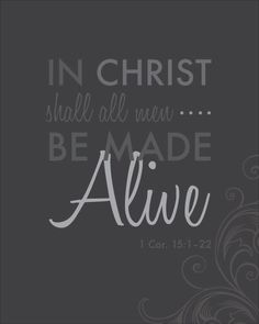 In Christ shall all men be made alive (free LDS Easter printables)