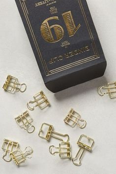 Folio Binder Clips / anthropologie.com