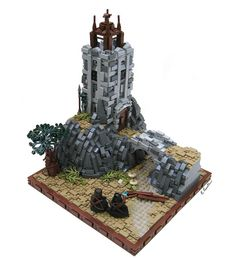 Legends of Brickdom Challenge Part 2- The Tower at Roads End by K. Kreations on Flickr
