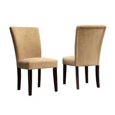 HomeSullivan Sommerland Chenille Parson Chair in Camel (Set of 2)-40721CN05S(3A)[2PC] at The Home Depot