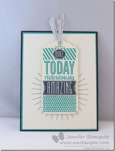 Clean and Simple Card using Amazing Birthday for the Convention Display boards by Jennifer Blomquist #stampinup #displaystampers #amazingbirthday #nwstamper