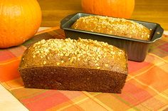 This pumpkin loaf is very easy to make and would make a tasty afternoon snack. Pumpkin Loaf Recipe from Grandmothers Kitchen. Gluten Free Pumpkin Bread, Pumpkin Loaf, Pumpkin Recipes, Fall Recipes, Loaf Recipes, Cooking Recipes, Le Chef, 20 Min, How To Make Bread