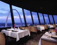 Top of the Riverfront, Millennium Hotel, St. Louis (Formerly Stouffer's) Revolving restaurant that overlooked downtown and riverfront. The Places Youll Go, Great Places, Places To Go, Food Places, St Louis Downtown, Millenium Hotel, St Louis Restaurants, Rooftop Restaurant, Hotels