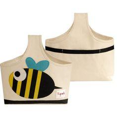 Aufbewahrung im Kinderzimmer   Aufbewahrungstasche Biene mit Henkel, 35 x 34 x 13 cm, von 3 sprouts - itkids Online Store