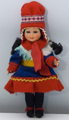 Doll in Finnish Lapland National Costume c.1960s by Catwalk Creative Vintage, via Flickr
