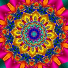 This mandala is filled with a beautiful energy