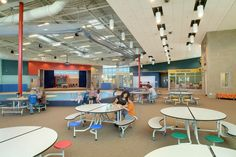 Summit Elementary School   Lee H. Skolnick Architecture + Design Partnership   Photography by Fred Fuhrmeister  Archinect #elementary_school #cafeteria