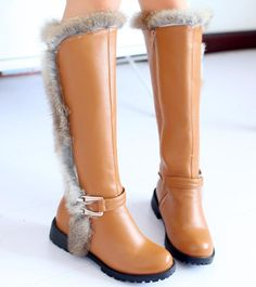New arrive hot fashion high heel knee boots casual dress patent leather sexy women Size 34-39 flat boots