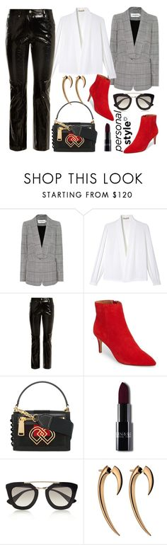 """Red booties❤️"" by giotibi ❤ liked on Polyvore featuring self-portrait, Michael Kors, Helmut Lang, Dsquared2, Prada, Shaun Leane, contestentry and polyPresents"