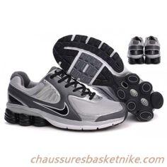 Hommes Nike Shox Qualify BigKids Blanc Gris Noir Argent Black Nike Shox bef382b3a