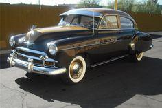 1949 CHEVROLET FLEETLINE DELUXE 4 DOOR SEDAN #chevy #americancars #classiccars