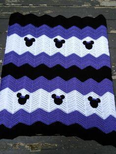 Purple Black and White Minnie Mickey Mouse Crochet by MandyMiranda, $35.00