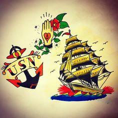 今日も欠かさず描いてます!  #tatoo  #tatoosketch #tatoolife #tatoodesign #tatooart #tatooflash #sailortattoo #sailors #anchor #タトゥー#タトゥーアート #タトゥーデザイン #タトゥーフラッシュ #usnavy #usarmy #usaf #usn #usa