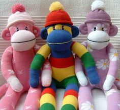 Assorted sock monkey's for a party treat