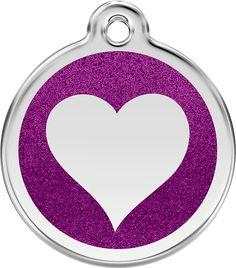 Glitter Heart ID Tag