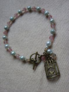 Vintage Style Bird Cage Bracelet £12.50