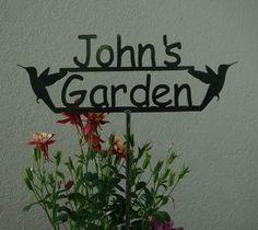 Custom Made Custom Garden Sign
