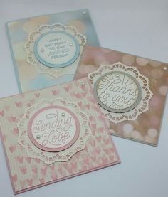 Stampin' Up! Demonstrator stampwithpeg –Quick Card Thursday : Falling in Love with Designer Tin of cards The Falling in Love Designer Series Paper