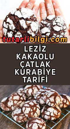 We share the recipe for cracked cookies with cocoa in terms of its appearance … Crack Cookies Recipe, Cookie Recipes, Cracked Cookies, Cocoa Cookies, Food Articles, Dessert, Homemade Beauty Products, Kakao, Hamburger