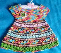 Vestido de crochê infantil | Arte & Crochê da Rita | Elo7