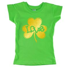Love Inside Gold Shamrock personalized Green shirt by shirtsbynany on Etsy