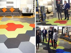 A burst of colour for this fantastic sunny day! #hexagon #commercialcarpettile #shawcontractgroup