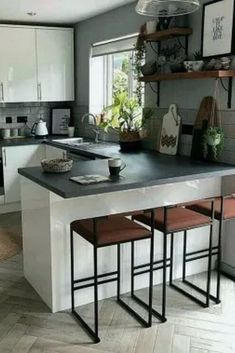 24 Modern Farmhouse Kitchen Designs For You Dream Home 24 modern. 24 Modern Farmhouse Kitchen Designs For You Dream Home 24 modern farmhouse kitchen Kitchen Room Design, Modern Kitchen Design, Home Decor Kitchen, Kitchen Layout, Interior Design Living Room, Kitchen Designs, Small Home Interior Design, Kitchen Ideas, Kitchen Contemporary