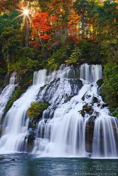 Caney Fork River,Rock Island State Park,TN,Tennessee,Twin Falls,USA, Waterfall...