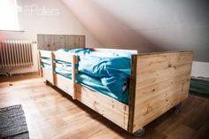 Diy Video Tutorial: Boy's Pallet Bed/Lit à Roulettes En Bois De Palettes DIY Pallet Bed Headboard & FrameDIY Pallet Video Tutorials