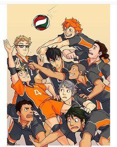 #haikyuu #volleyball #lgbt #anime #manga #hinatasoyo #tobiokageyama #tsukki #yamaguchi #tanaka #sugawara #daichi #asso