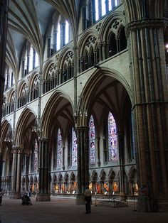 Catedral de Lincoln. Vista interior.