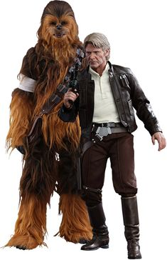 Star Wars The Force Awakens Han Solo and Chewbacca Sixth-Scale Figure Set