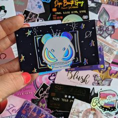 How awesome is this angry panda? Suede business cards with shiny holographic foil printed for 🐼 Foil Business Cards, Unique Business Cards, Business Card Design, Box Packaging, Packaging Design, Holographic Foil, Name Cards, Card Ideas, Lashes