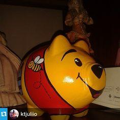 #Repost @ktjuliio ・・・ Yo hago parte de la #CulturaDelAhorro; Gracias Johan por mi Chonchito Winny Pooh♥ Me enamoró @choncho_mania ♥.♥